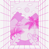 paradise - 2015 risograph print A3 edition of 20
