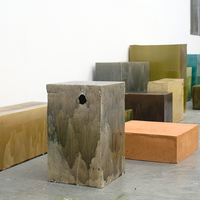 Plinths, Installation View, 2014, Glazed Stoneware