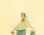 man with CBA and Auchan bags - thumbnail