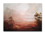 Landscape with peasant woman - thumbnail
