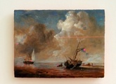 Fishing boats in a calm (After Willem Van de Velde II) - thumbnail